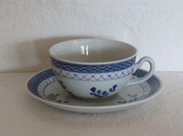ALUMINIA, TRANQUEBAR BLUE FAJANCE, Tea cup & Saucer