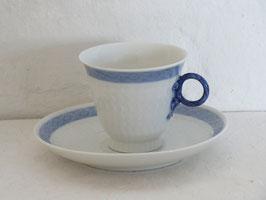 ROYAL COPENHAGEN, BLÅ VIFTE, Coffeecup & Sauser