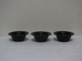 ARABIA, BLACK, 3 Mini bowls
