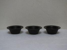 ARABIA, BLACK, 3 Mini bowls