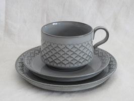 BING & GRØNDAHL, CORDIAL, Teacup & Saucer & Plate
