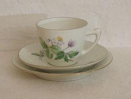 BING & GRØNDAHL, ANEMONE, Coffeecup & Saucer & Plate