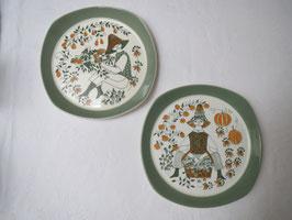 FIGGJO, SICILIA, 2 Plates 185mm