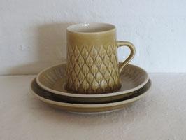 BING & GRØNDAHL, RELIEF, Coffee cup & Saucer & Plate