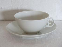 ROYAL COPENHAGEN, WHITE, Tea cup & Saucer