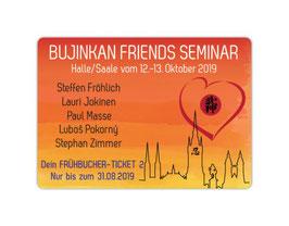 """Anzahlung zum """"Frühbucherticket 2"""" für Einzelteilnehmer NUR BIS ZUM 31.08.2019"""