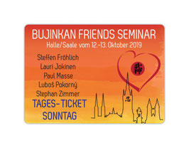 """Bujinkan Friends seminar day ticket"" for Sunday, October 13th, 2019."