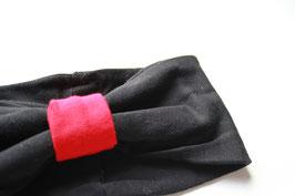 """Stirnband LISA """"schwarz und rot"""""""