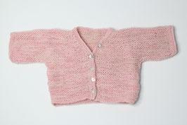 Babyjäckchen Merinowolle rosa