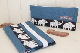 """Windeltäschchen Set """"Elefanten"""""""