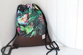 "Turnbeutel/ Rucksack ""Jungle Flowers"""