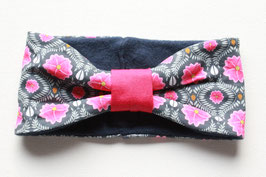 Stirnband Lisa Knit Knit pink flowers