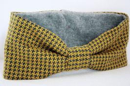 Stirnband Lisa Hahnentritt gelb