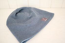 "Beanie "" Knit Knit"" rauchblau/schwarz"