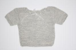 Babyhemdchen Babyalpaka/Seide grau