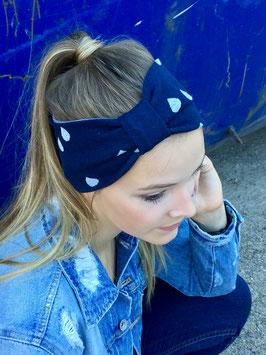 """Stirnband LISA """"glitzer Tropfen"""" marine"""