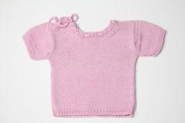 Babyhemdchen Merinowolle rosa
