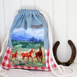 """Kindergartenrucksack """"Pferde und Karos"""" XS"""