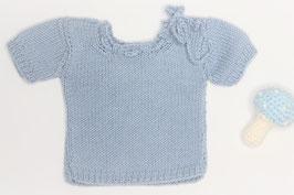 Babyhemdchen Merinowolle babyblau