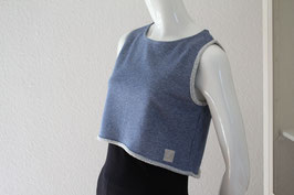 "Crob  Top "" jeansblue and silver"""