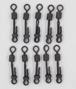 Quick Lock Wirbel Gr. 8 Matt Schwarz, Schnellwechselwirbel 10er Set