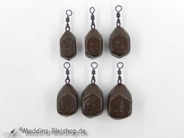 Würfelblei Gummibeschichtet Braun 60g-140g