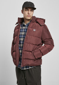 Hooded Puffer Jacket cherry