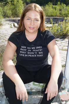 T-Shirt live in peace
