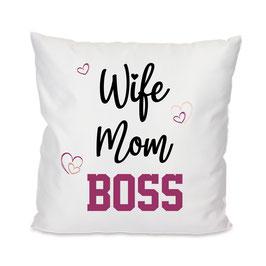 Kissen Wife Mom Boss