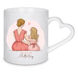 Tasse Mutter & Tochter (braun,blond)