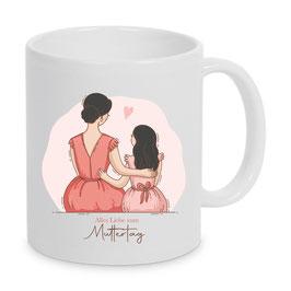 Tasse Mutter & Tochter (schwarz)