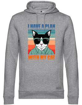 PLANS WITH MY CAT HOODIE