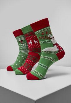 Christmas Lama Socks 3-Pack