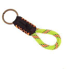 Schlüsselanhänger Kletterseil grün gelb rot blau Leder