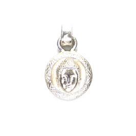 buddhakopf amulett rund Silber Art. 8984