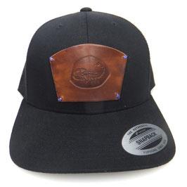 """Cap Snapback schwarz mit Leder patch Sternzeichen """"Skorpion"""" Art.9025"""