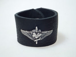 "LEDERARMBAND ""HARLEY"" FLYING HEART"