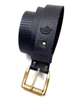 Ledergürtel 4 cm schwarzbraun Messingschließe matt Art. N° 9816