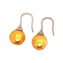 Ohrringe muranoglas classic gelbgold Art. 9558