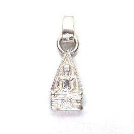 Buddha Amulett Silber | beidseitig tragbar pyramidenform Art. 8986