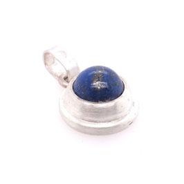 Kettenanhänger Silber mit rundem Stein | Lapislazuli königsblau Gr. M | Art. 9118
