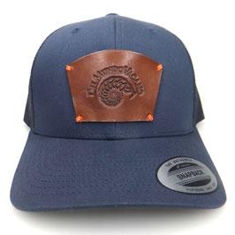 Cap Snapback blau mit Leder patch Del Mundo Vacano Art.9028