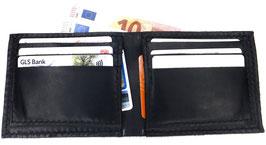 Brieftasche für Karten & Scheine  Leder schwarz Art. 9652