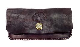 Portemonnaie braun 19 x 9 x 2 cm aus gewaschenem Leder Art. 9706