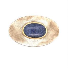 handgeschmiedete gürtelschnalle mit Dumortierit Art. 9143
