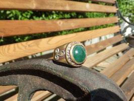 """Ring """"GRÜNER ACHAT"""" Art. N°. 2386"""