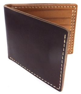 Brieftasche für Karten & Scheine  dunkelbraun (außen) | natur (innen) Art. 9646
