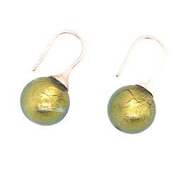 Ohrringe muranoglas classic verde oliva Art. 9557
