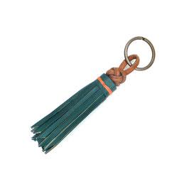Schlüsselanhänger   Taschenanhänger Lederquaste aquaverde Art. 9727