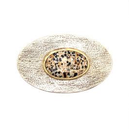 handgeschmiedete gürtelschnalle mit Dalmatiner Jaspis Art. 9138
